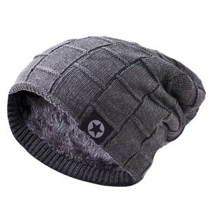 Men's Lined Long Beanie Winter Hat | Soft Warm
